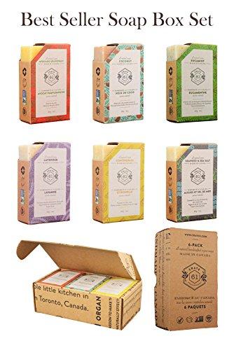 Crate 61 Best Seller Soap 6 Pack Box Set 100 Vegan Cold
