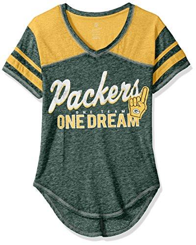 Outerstuff NFL NFL Junior Girls Vintage Short Sleeve Football Tee, Hunter, X-Large(15-17)