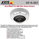 Axis 0515-001 Communications 360/180 Degree 5 MP Fixed Mini Dome IP Camera with Digital Pan-Tilt-Zoom (White) by Axis