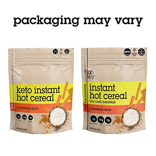 HighKey Snacks Keto Instant Hot Cereal Breakfast - Gluten & Grain Free - Perfect Ketogenic Friendly Food - Low Carb, High Protein Products - Good for Desserts, Atkins and Diabetic Diets - 9oz by HighKey Snacks (Image #2)