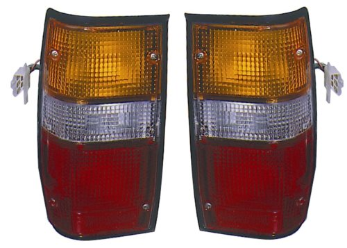Dodge RAM 50/Mitsubishi Pickup Replacement Tail Light Assembly (Black) - 1-Pair