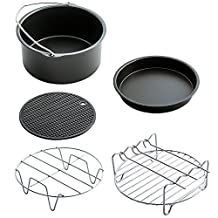 Aolvo Air Fryer Accessories 7 Inch Diameter Fit for 3.2QT - 3.7QT Phillips Gowise Power Black and Decker Avalon Brands