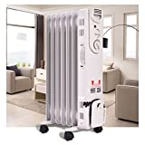 Small Space Heater, Electric oil-filled radiator|Energy Efficient