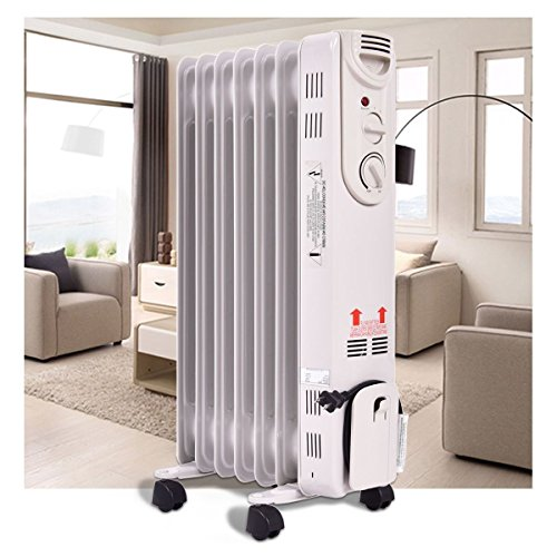 Small Space Heater, Electric oil-filled radiator|Energy Efficient by By Warm Room