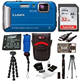 Panasonic Lumix DMC-TS30 Digital Camera (Basic, Blue)