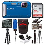 Panasonic DMC-TS30K LUMIX Digital Camera (Blue) with 16GB Accessory Bundle For Sale