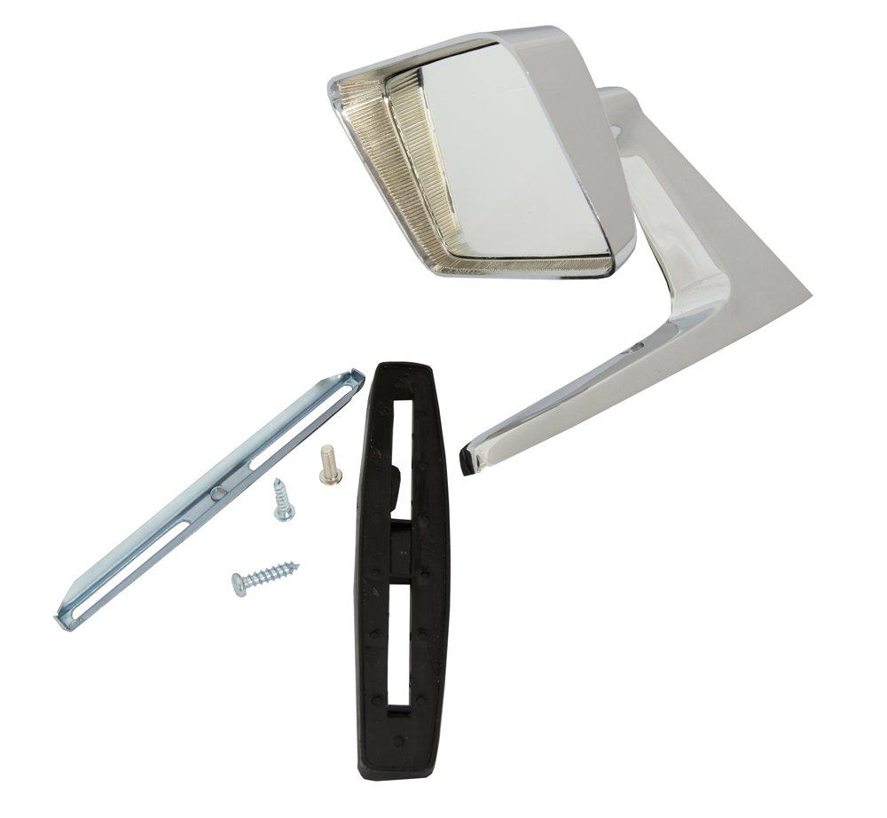 motamec 09/lado espejo retrovisor coche cl/ásico X2 cuadrado de estilo americano acero cromado