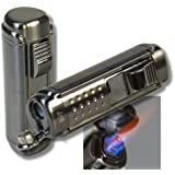 WinJet Zigarren Feuerzeug Titan 4fach Jetflamme-Bohrer 2 inkl. Lifestyle-Ambiente Tastingbogen