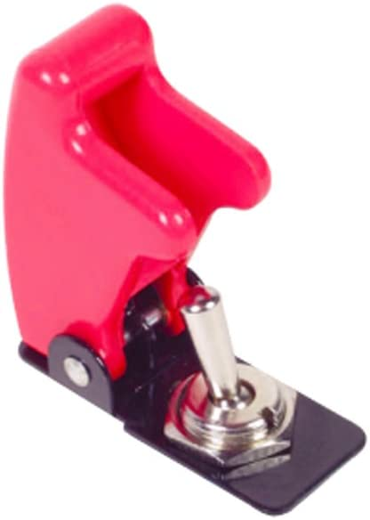 Toggle Flick Switch Aircraft Flip Cover Red Missile Rally Motorsport Car K889R ROBINSON