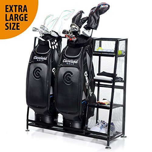 Milliard Golf Organizer - Extra Large Size - Fit 2 Golf Bags and Other Golfing Equipment and Accessories in This Handy Storage ()