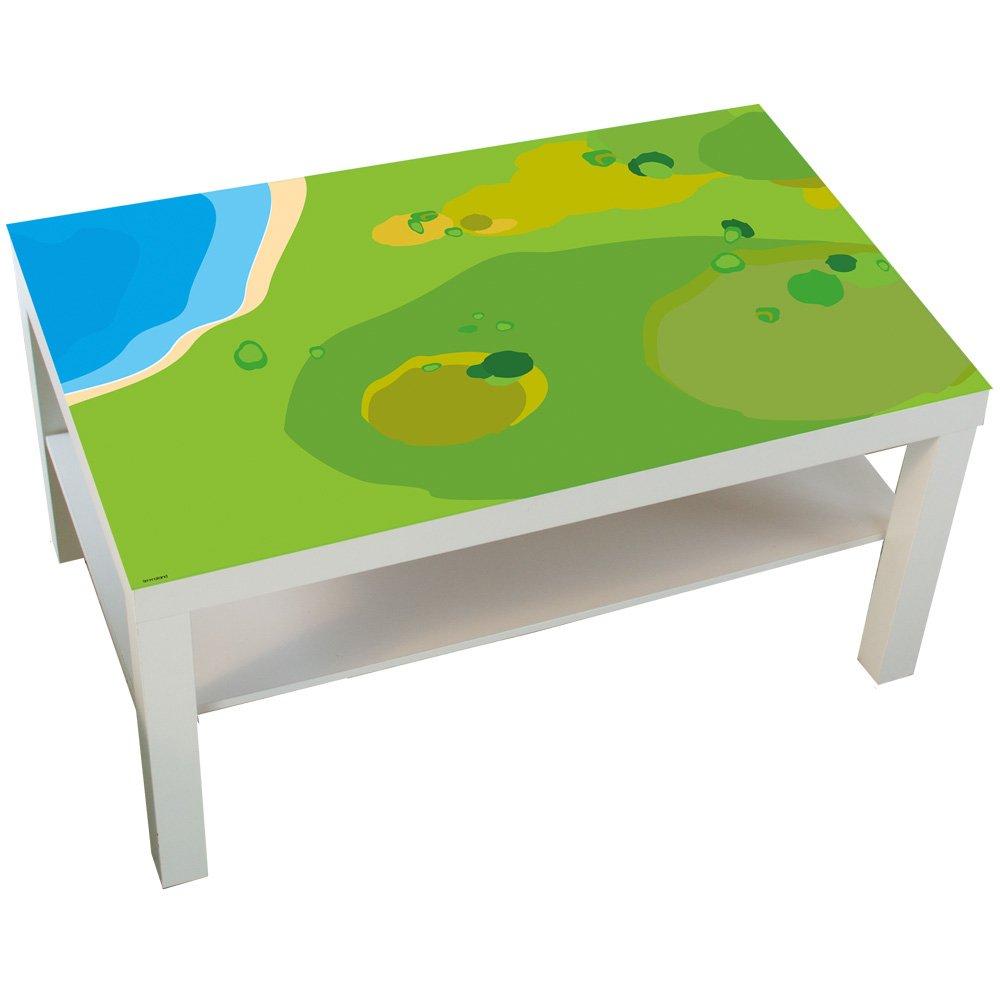 Möbelaufkleber Spielwiese - passend für IKEA LACK Couchtisch - groß - Kinderzimmer Spieltisch - Möbel nicht inklusive Limmaland
