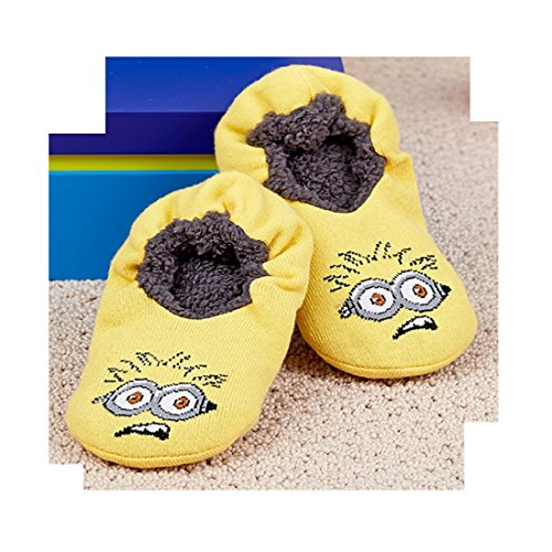 the big discount Boys' Slipper Sock Minions Fit Shoe Size 7.5 To 3