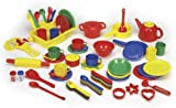 : Childcraft Deluxe Kitchen Play Set - 71 Pieces - Assorted Colors