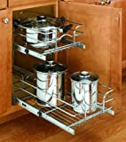 Rev a shelf Two tier Chrome Wire Baskets, SMALL, CHROME