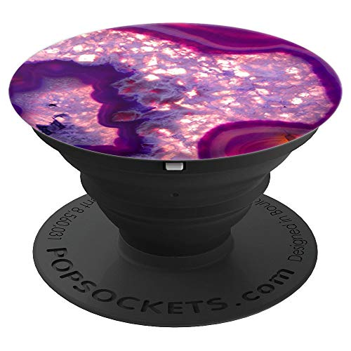Elegant Fuchsia Pink & Purple Agate Geode - PopSockets Grip and Stand for Phones and Tablets
