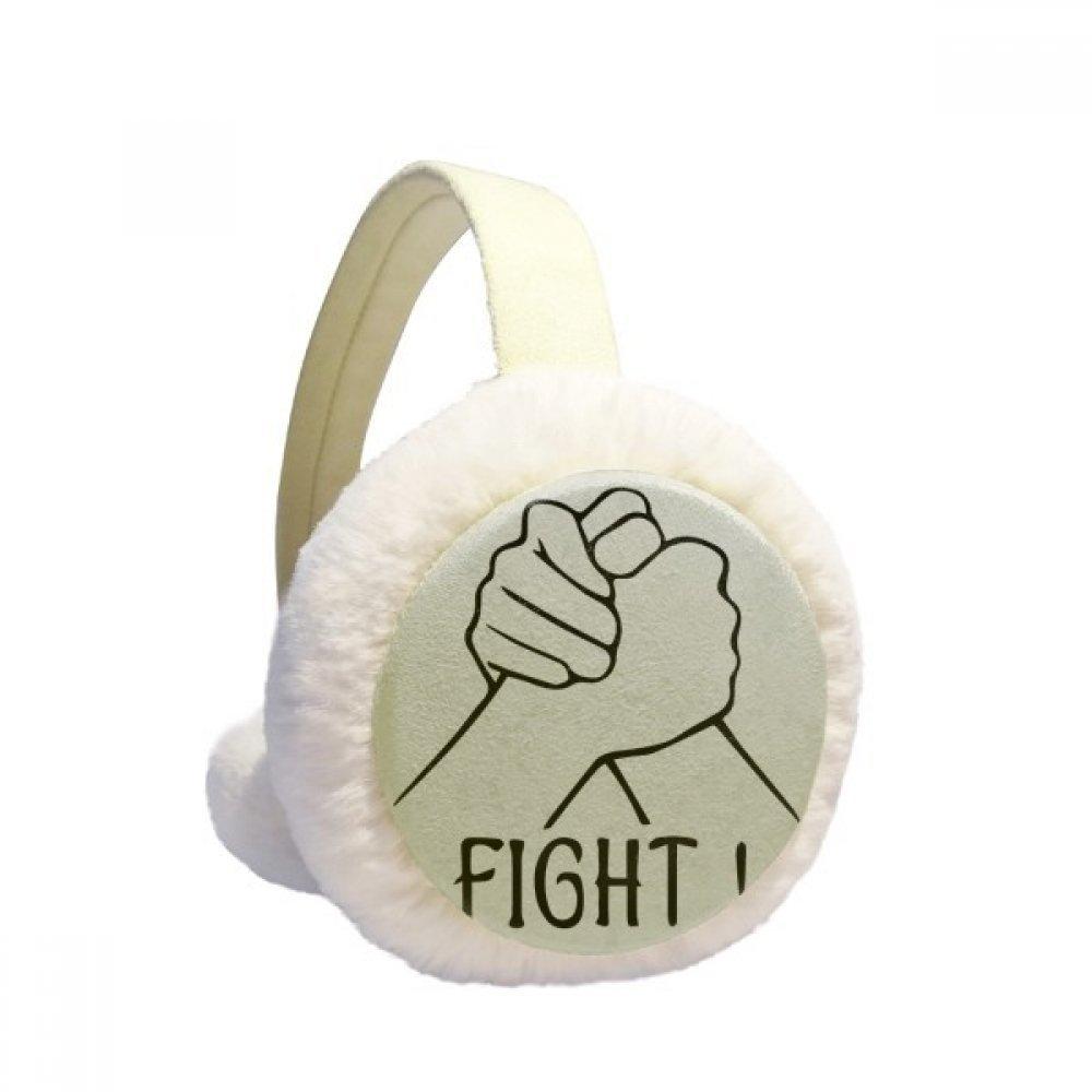 Wrist Wrestling Personalized Gesture Winter Earmuffs Ear Warmers Faux Fur Foldable Plush Outdoor Gift