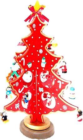 Addobbi Natalizi Legno.Addobbi Natalizi Creativa Miniatura Albero Di Natale In Legno Desktop Mini Albero Di Natale Per La Decorazione Domestica Rosso Amazon It Casa E Cucina