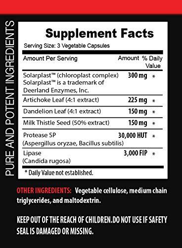 Liver Support Supplement - Liver DETOXIFIER Formula - Supports Liver Health - protease Enzyme Supplement - 3 Bottles 180 Capsules by VIP VITAMINS (Image #1)