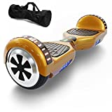 Hoverboard Self Balancing Scooter UL 2272 Certified with Powerful Bluetooth Speaker, Cool LED lights and FREE Portable Carrying Bag (Glorious Gold)