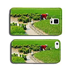 Vietnamese farmer working on rice field cell phone cover case Samsung S6