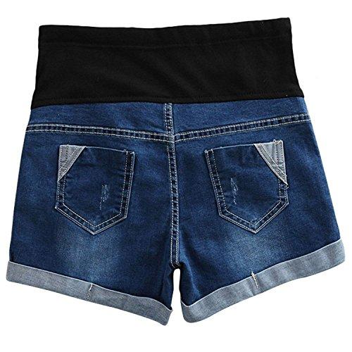 Scuro In Jeans junkai Regolabili Blu Maternità Maternità Pantaloncini Di Pantaloncini Di qPEnBwtv47
