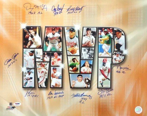 Most-Valuable-Players-Signed-16-x-20-Photograph-With-9-Signatures-Including-Pete-Rose-Jim-Rice-PSADNA-Authentication-Autographed-MLB-Photos