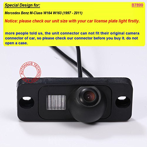 Navinio Backup Camera for Car Waterproof Rear-View License Plate Car Rear Reverse Parking Camera for Mercedes Benz M-Class W164 W163 5558990423