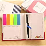 Creative Combination Of Sticky Note Paper With Pen Inside The Portable Bloc-notes