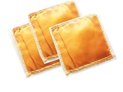 Fresh Fortune Sandalwood Natural Sandal Powder Fragrance Sachets (Packet Size 3.5, Orange) -Pack of 3