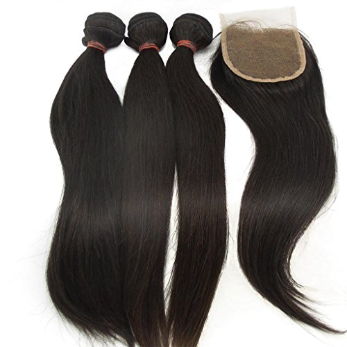 Vedar Beauty 3Bundles+1Closure Unprocessed Malaysian Straight Can Be Dyed Hair Wave 3Pcs14