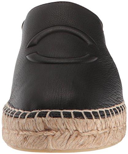 discount best prices cheap sale enjoy Via Spiga Women's Bella Espadrille Loafer Flat Black Leather free shipping amazing price discount amazon j5mbEb2