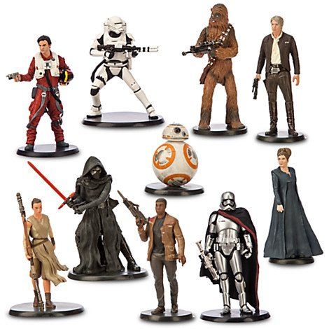 Disney Star Wars Force Awakens Deluxe 10 Pc. Figure Figurine Playset (Action Figurine)
