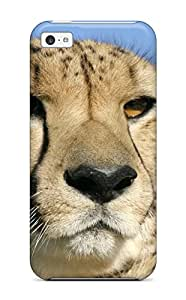 Protection Case For Iphone 5c / Case Cover For Iphone(cheetah Portrait Big Wild Cat Safari Face Eyes Felines Animal Cat)