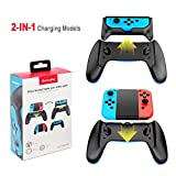 Nintendo Switch Joy Con Charging Grip, 2 in 1 JoyCon Charging Grip Dock Comfortable Game Handle with Controller Charging Dock 2 Charging Models