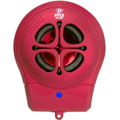 Pyle-Home PMS6R Chainable Rechargeable Mini Capsule Speakers with Bass Expansion For iPod/iPhone/Android/Laptop (Red) by Pyle