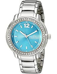 Tommy Hilfiger Womens 1781502 Crystal-Accented Stainless Steel Watch