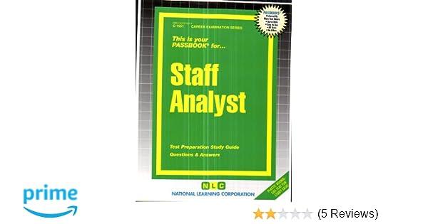 Staff analystpassbooks jack rudman 9780837315515 amazon books fandeluxe Gallery