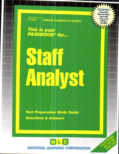 Best staff analyst study guide for 2019