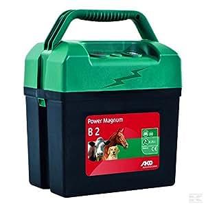 Electrificador de vallas Ako Power Magnum B2. Para cerca eléctrica, con batería. Para todos los animales.