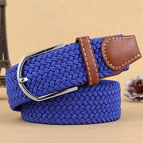 New Canvas Size Blue Belt Braided Universal Dress Royal Casual Waist Green Metal Army Pants Buckle q5gXrqwS