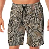 TR2YU7YT Realtree Camo Casual Mens Swim Trunks Quick Dry Printed Beach Shorts Summer Boardshorts Bathing Suits with Drawstring