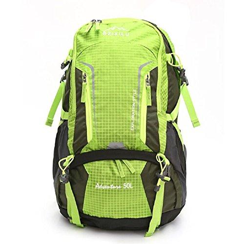 ZC&J Mochila de escalada de nylon al aire libre, impermeable sólido resistente al desgaste resistente al desgarro bolsa de viaje de alta calidad, los hombres y las mujeres universal, bolsa de hombro c B