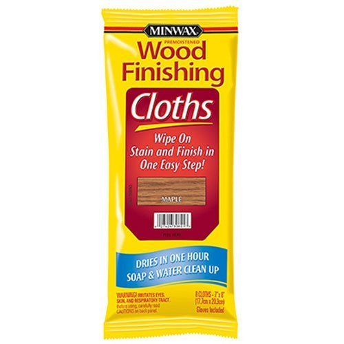Minwax 30821 Wood Finishing Clothes, Maple, 8-Pack by Minwax
