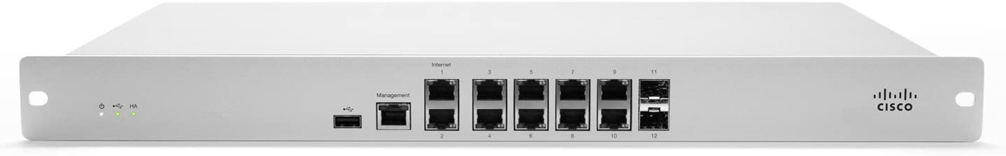 Cisco Meraki MX84 Networking Branch Security Appliance, 500Mbps FW, 10x GbE & 2x GbE SFP Ports