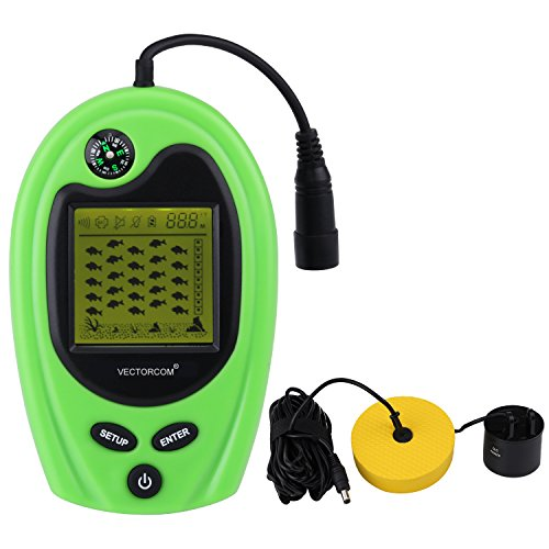 Fish finders depth finder for ice fishing gear for Portable fish finder ice fishing