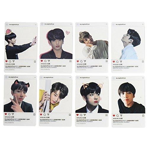 Youyouchard BTS Bangtan Boys Love Yourself 结Answer BTS Photocards Kpop BTS Transparent Cards TPU Bangtan Boys Suga Jimin Jungkook Photo(H05: JK(8PCS))