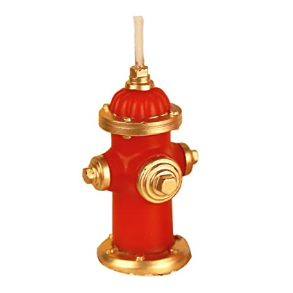 Amazon Charming Birthday Candle Puppy Dog Cake Topper Firefighting Home Kitchen