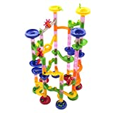 Marble Run Race Coaster Toy Set,Meland 105 Pcs Mable Game STEM Learning Building Blocks Toy for Kids