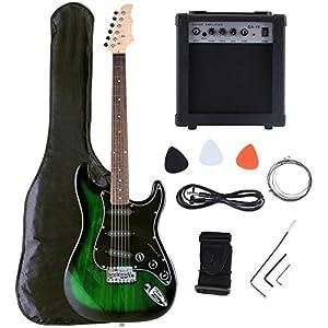 LAGRIMA Electric Guitar 15w AMP Strap Cord Gigbag Beginner Pack Accessories