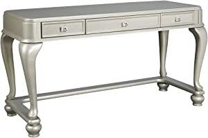 Ashley Furniture Signature Design - Coralayne Vanity - 3 Drawer - Contemporary Style - Silver